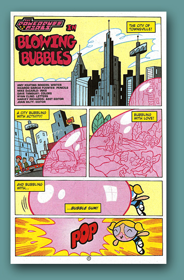 DC Comics Powerpuffs Bubbles
