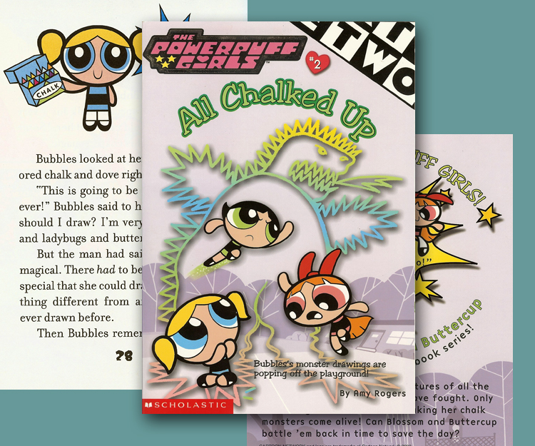 Scholastic Books Powerpuff All Chalked Up