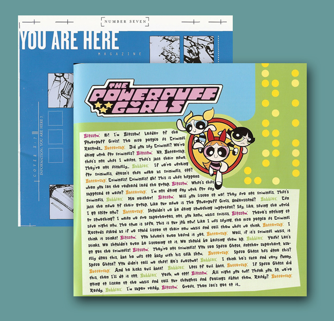 You Are Here CD Liner Notes Powerpuff Girls